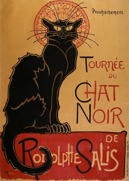 Théophile Steinlen's famous advertisement for the tour of Le Chat Noir cabaret