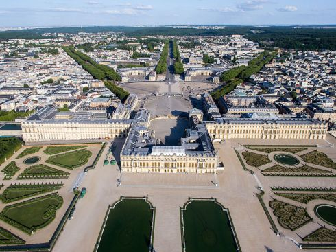 Aerial view of the Palace of Versailles