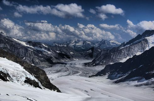 Jungfraujoch and the Aletsch Glacier (Photo credit: Ed Coyle)