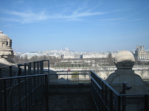 A picture I took from the Louvre of Paris shows the symmetrical heights in Paris.