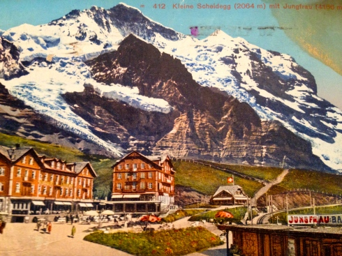 Postcard sent by Alex to his daughter, Marion.