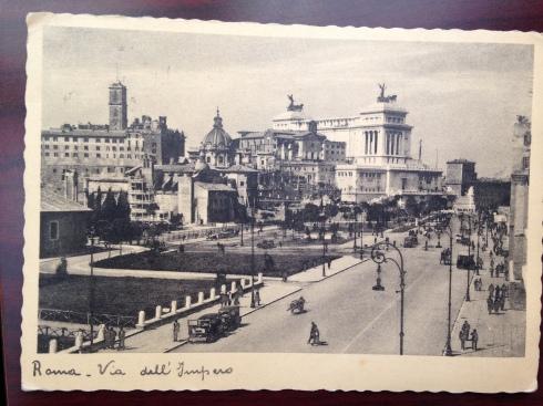 1938 Roma postcard