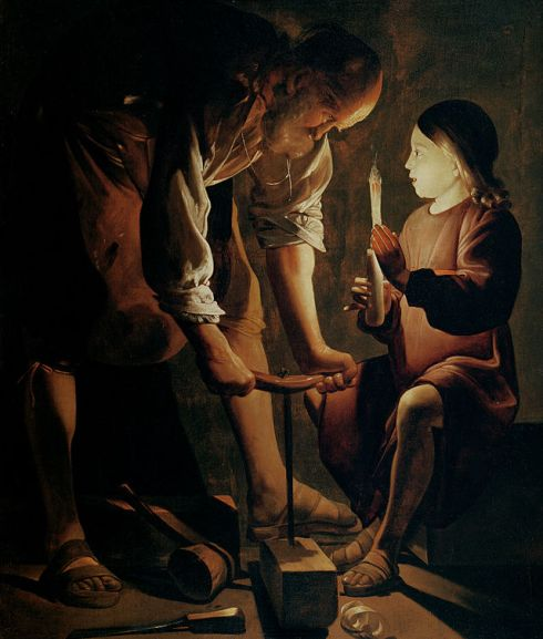 Joseph the Carpenter, 1642, Louvre, by Georges de La Tour