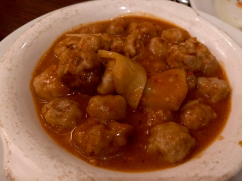 Veal and ricotta meatballs in spicy tomato sauce ©blogginginitaly.com